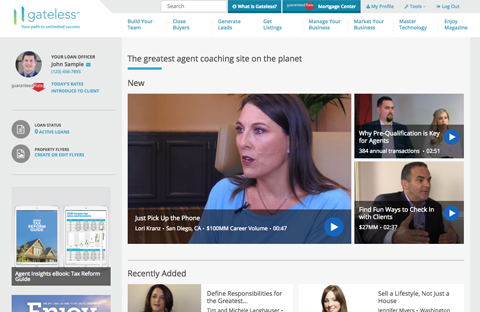 Gateless, the world's greatest agent coaching site