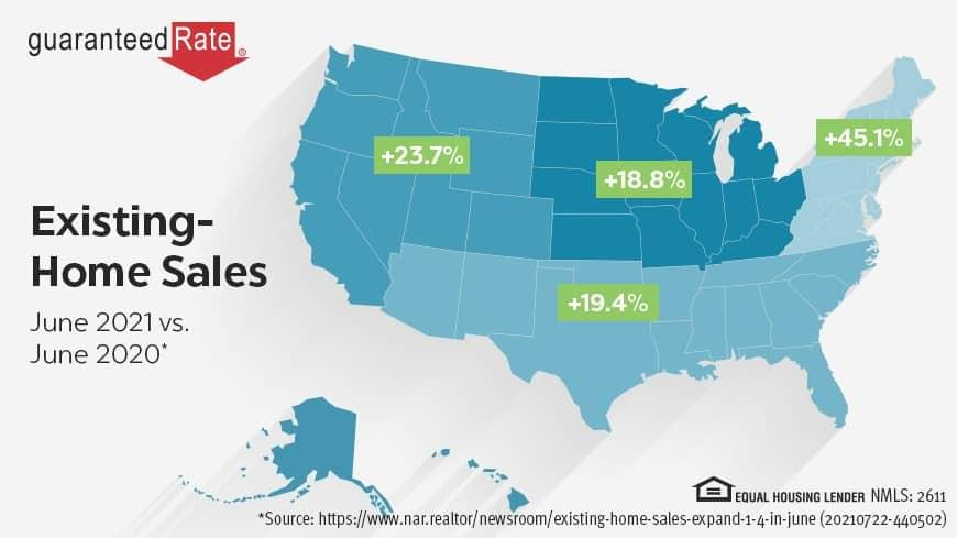 Existing home sales increased 1.4 percent in June