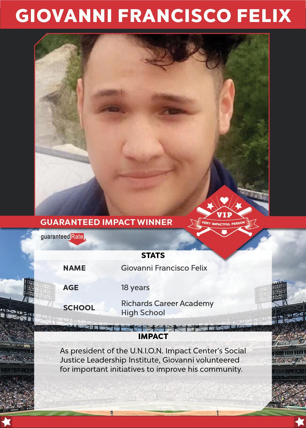 Guaranteed Impact winner Giovanni Felix